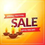 Diwali discount sale banner poster template. Vector