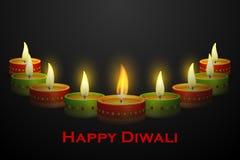 Diwali Diya装饰 免版税库存图片