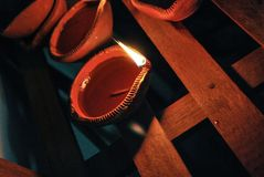 Diwali diya Zdjęcia Stock
