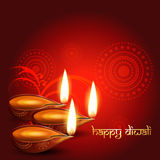 Diwali diya. Artistic hindu diwali festival background vector illustration