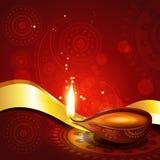 美好的印度diwali diya节日艺术 免版税库存图片
