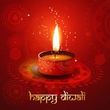 Diwali diya. On stylish background