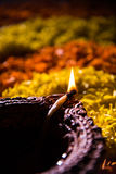 Diwali diya or auspecious oil lamp made up of teracotta Royalty Free Stock Photography