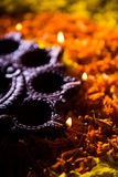Diwali diya or auspecious oil lamp made up of teracotta Stock Photography