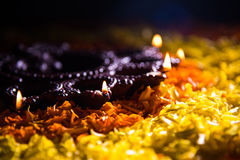 Diwali diya or auspecious oil lamp made up of teracotta Royalty Free Stock Images