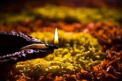 Diwali diya or auspecious oil lamp made up of teracotta Stock Photos