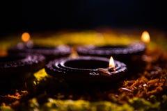 Diwali diya or auspecious oil lamp made up of teracotta Stock Image