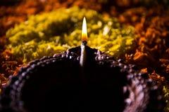Diwali diya or auspecious oil lamp made up of teracotta Royalty Free Stock Image