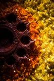 Diwali diya or auspecious oil lamp made up of teracotta Royalty Free Stock Photo