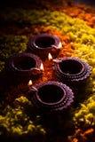 Diwali diya or auspecious oil lamp made up of teracotta Royalty Free Stock Photos