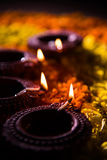 Diwali diya or auspecious oil lamp made up of teracotta Stock Photo