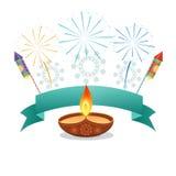 Diwali diya background Royalty Free Stock Photography