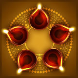 Diwali diya background Stock Photography