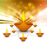 Diwali diya Celebration colorful decoration background Royalty Free Stock Images