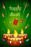 Diwali Diya con la galleta del fuego