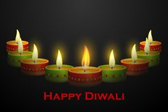 Diwali Diya decoration. Vector illustration of Diwali decoration with colorful diya