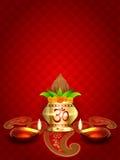 Diwali diya and kalash Royalty Free Stock Photo