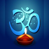 Diwali diya with om symbol. Vector diwali diya with om symbol Royalty Free Stock Image