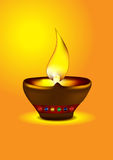 Diwali Diya - Schmieröllampenabbildung Lizenzfreie Stockfotos