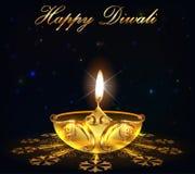 Diwali, diya sul fondo di festa di Diwali illustrazione di stock