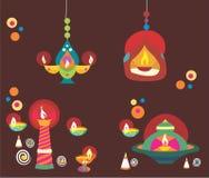 Diwali Diyas Fotografia Stock Libera da Diritti