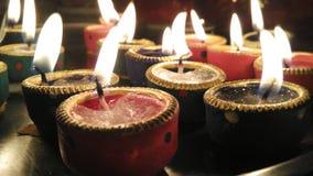 Diwali diyas błyskawicowi Fotografia Royalty Free
