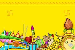 Diwali Doodle. Illustration of Diwali doodle with different object royalty free illustration