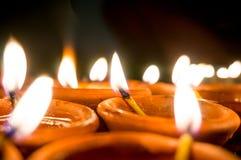 Diwali earthenware oil lamps, diyas Royalty Free Stock Image