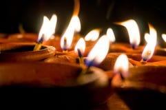 Diwali earthenware oil lamps, diyas Royalty Free Stock Photography