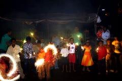 Diwali en pobreza Foto de archivo libre de regalías