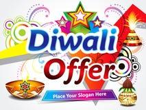 Diwali försäljningsbakgrund stock illustrationer