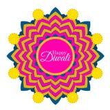Diwali-Feier in glückliches diwali Indiens kreativer Illustration vektor abbildung