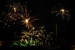 Diwali-Feier am Vorabend Laxmi Poojans Stockfoto