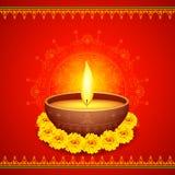 Diwali felice Diya Fotografie Stock Libere da Diritti