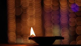 Diwali feliz video estoque