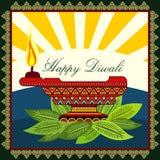 Diwali feliz Imágenes de archivo libres de regalías