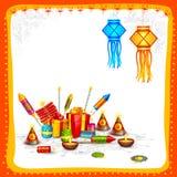 Diwali feliz Imagens de Stock