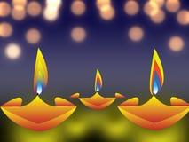Diwali feliz 2018, cartel promocional con las lámparas tradicionales diy libre illustration