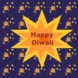 Diwali feliz con los petardos Foto de archivo
