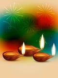 Diwali feliz criativo ilustração do vetor