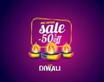 Diwali feliz del vector stock de ilustración