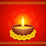 Diwali feliz Diya Fotos de Stock Royalty Free