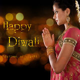 Diwali feliz, festival de luzes Fotos de Stock Royalty Free