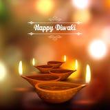 Diwali feriebakgrund Royaltyfri Fotografi