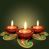 Diwali festival. Stylish glowing diwali diya background royalty free illustration