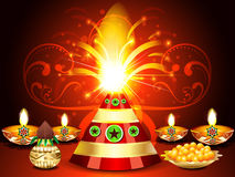 Diwali festival Background With Cracker's. Vector illustration Stock Images