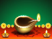 Diwali festival background with deepak Royalty Free Stock Photography
