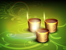 Diwali festival background.EPS 10. Beautiful illuminating Diya background for Hindu community festival Diwali or Deepawali in India. EPS 10