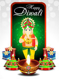 Diwali Festival Background With Ganesh g Stock Images