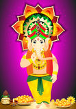 Diwali Festival Background with ganesh g Stock Photos